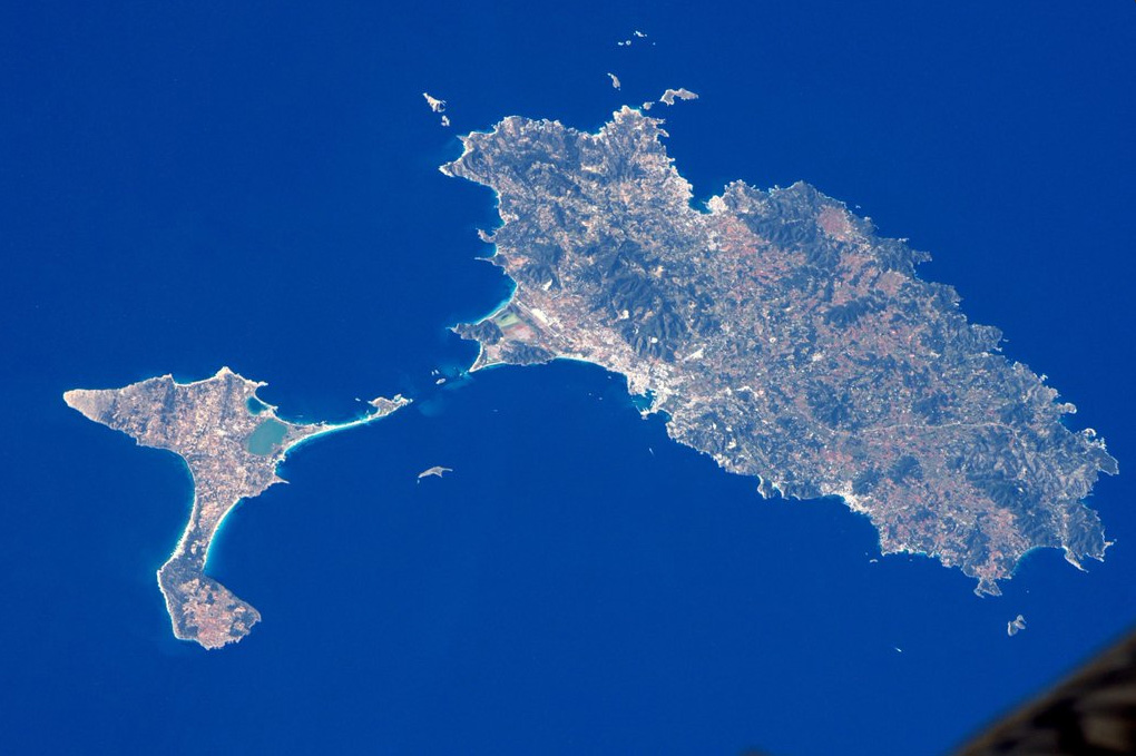 Eivissa i Formentera, des de l'espai. Foto: Astronauta Tim Peake