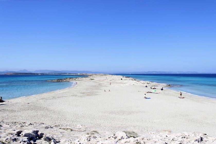 La lengua del Norte de Formentera es una de las playas más conocidas de la isla.