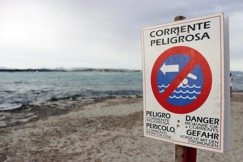 El estrecho de Es Freus es un lugar de fuertes corrientes marinas.