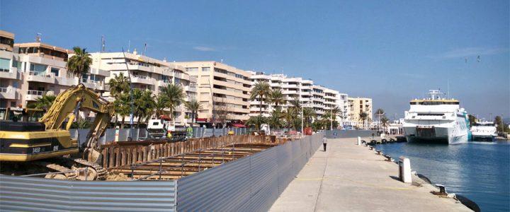 Obras en el puerto de Ibiza durante todo el verano 2018 por falta de previsión