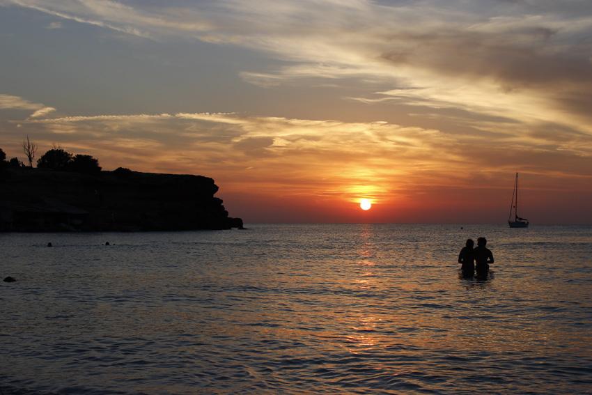 Puesta de sol desde la playa